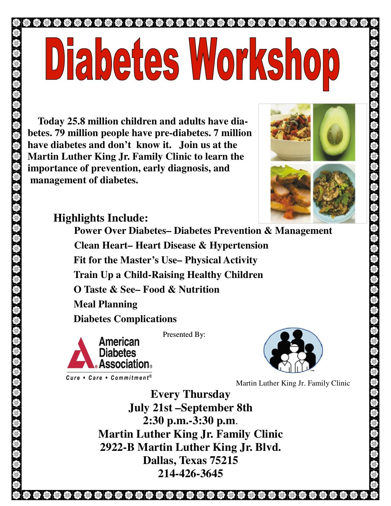 Diabetes Workshop   American Diabetes Association