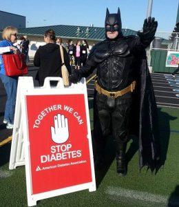 Batman Stops diabetes Keller 2015