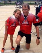 Grace Kendzierski age 7 and Jim West
