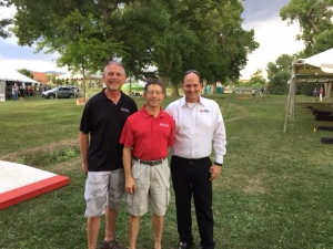 Lew Alexander (left) and Jim Cadorrette (center) CEO Kevin Hagen (right)